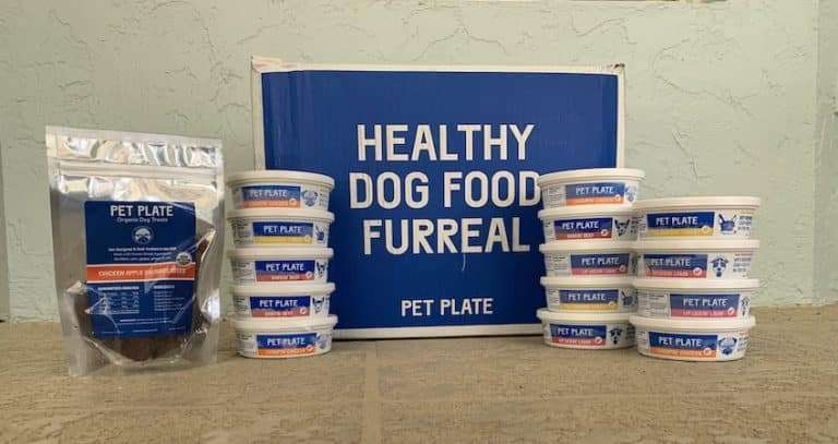 Our dog Max reviews Pet Plate Dog Food