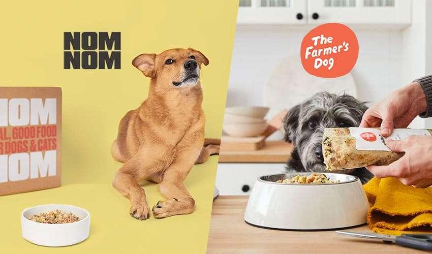 Compare Nom Nom dog food vs Farmer's Dog